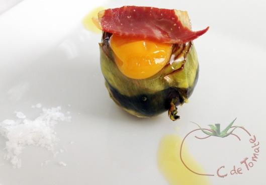Alcachofa huevo iberico